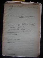 Fascicolo G.Albano Archivio Accademia di Belle Arti Firenze
