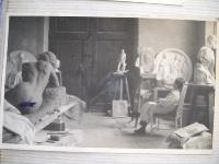 G.Albano nel suo studio fiorentino